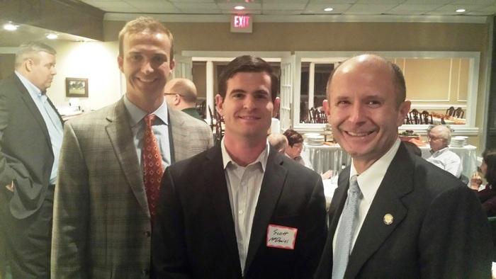 Left to right: Zach Doran, Scott McDaniel, and Senator Dave Burke