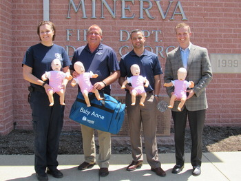 Loudon Motors Ford Gives Cpr Manikins To Minerva Volunteer Fire Department